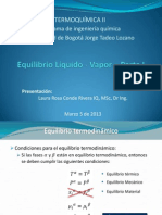 10. Equilibrio líquido vapor - Parte I - 2013 - I