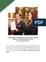 Dip. Carlos Góngora invita aprobación proyecto de ley de protección a la nñez y adolescencia en las TIC.