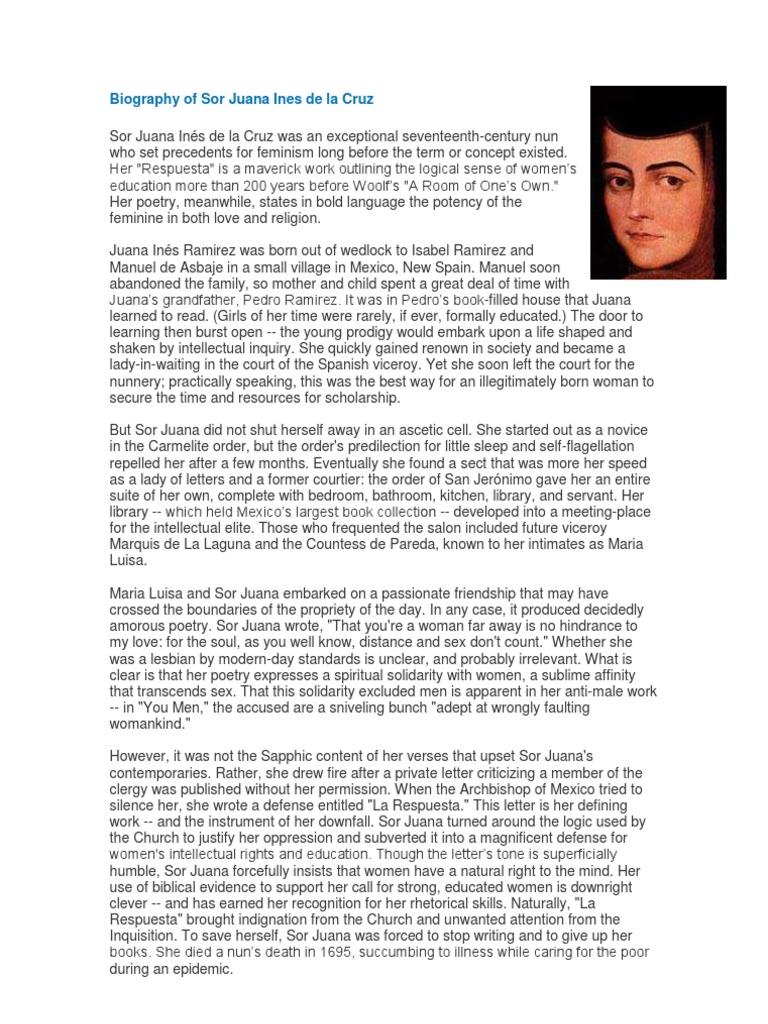 Juana Ines De La Cruz Poems 1