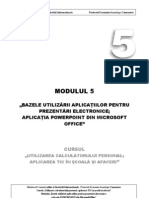 Modulul 5 SupCurs PowerPoint RO