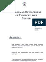 Srikanth Emdedded Webserver Ppt