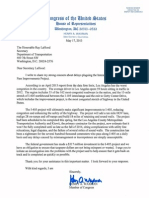 Rep. Henry Waxman's Letter to Secretary LaHood on I-405 Construction Delays 5-17-13