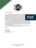 Platinum Dynasty ARob Letter