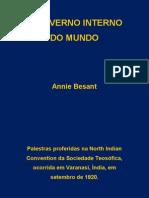 O GOVERNO INTERNO DO MUNDO e Outras Palestras de Annie Besant