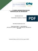 Curso Sobre Administraacion de Portafolios de Inversion