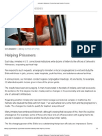 Jehovah's Witnesses Provide Spiritual Help for Prisoners!