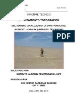 Informe Topografico Del Penal de Chincha
