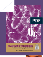 QUADERNOS DE CRIMINOLOGÍA NÚM. 20. Revista de Criminología y Ciencias Forenses, 2013