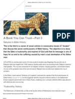 Babylon in Bible History _ A Book You Can Trust—Part 3