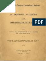 La industria Salitrera y la Intervención del Estado - Julio Perez Canto
