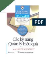Cẩm nang kinh doanh harvard- Các kỹ năng quản lý hiệu quả
