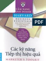 Cẩm nang kinh doanh harvard- Các kỹ năng tiếp thị hiệu quả