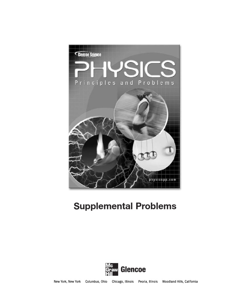 supplemental problems answer key physics chapter 20