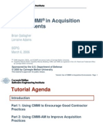 Use of Cmmi in Acquisition Environments