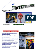Reliability Maintenance