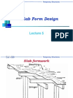 Slab Formworks Design