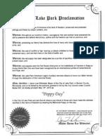 Poppy Day Proclamation 2013