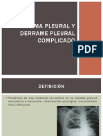 Empiema Pleural y Derrame Pleural Complicado