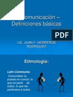 La comunicación-definiciones básicas