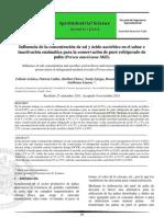 Influencia d La Concentracion d Sal y Acido Ascorbico en El Sabor e Inactivacion Enzimatica d Pure Refrigerado d Palta