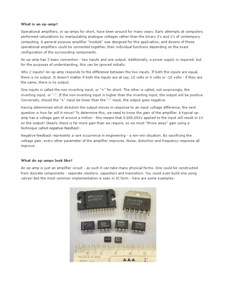 Op Amps Operational Amplifier Noninverting We Can Accomplish Amplification