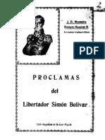 Libro Bolivar (Monsalve) - Proclamas del libertador Simón Bolivar.pdf