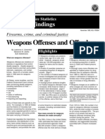 Weapons Offenses and Offenders - Firearms, Crime and Criminal Justice