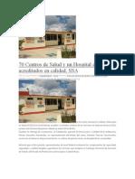 16-05-13 Poligrafodigital 70 Centros de Salud y Un Hospital de Oaxaca Acreditados en Calidad