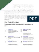 Pest Control India
