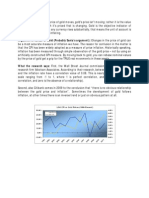One Pager on Gold vs Cpi