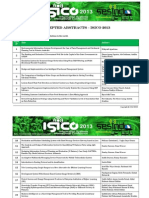 List of Accepted Abstract - IsICO 2013