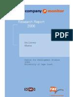 FNV Company Monitor- Unilever Ghana