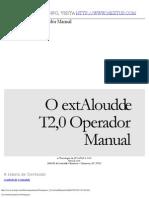 TextAloud Manual in Portuguese
