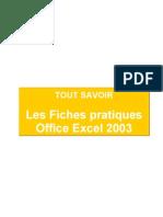 Tout Savoir Les Fiches Pratiques Office Excel 2003