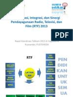Komisi 3 Koordinasi Integrasi Dan Sinergi Pendayagunaan RTF 2013 Oeh Kusnandar