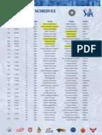 IPL 2013 Schedule Results