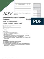 Business Exam June 2010