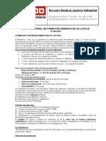Reunión mesa de formación Gerencia Valladolid (13-4-09)