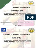 Certificados de Control de Energia - 2011