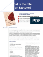 What is the Role of an Executor