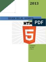 Bilal Ahmed Shaik Html5