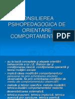 Consilierea Psihopedagogica de Orientare Comportamentala