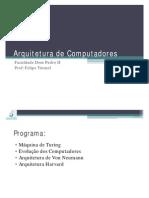 2011-08-01 Parte I - Arquitetura de Computadores