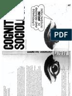 Cicourel, Cognitive Sociology