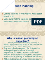 Importance of Planning a Lesson