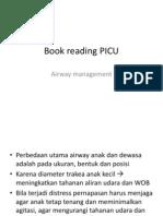 Book Reading PICU - Airway