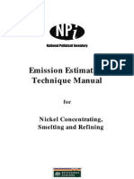 Emission Estimation Technique Manual for Nickel Concentrating,Smelting and Refining