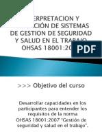 INTERPRETACION Y APLICACIÓN DE SISTEMAS DE GESTION DE