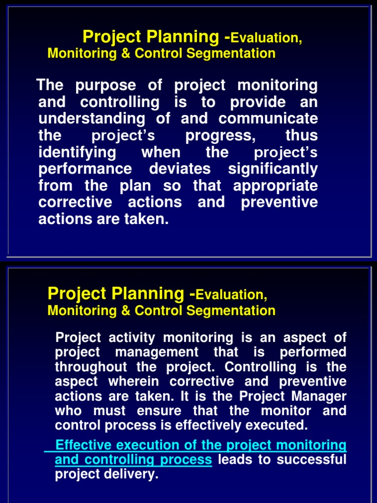 project monitoring and evaluation 3 3 the importance of m&e monitoring and evaluation is important because: it provides the only consolidated source of information showcasing project progress it allows educators to learn from each other's experiences, building on expertise and.