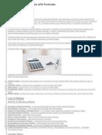 Financial Ratio Analysis With Formulas